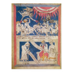Latin 7253 15 675, f.4v: Job being tested by God Postcards