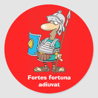Latín: Adiuvat de Fortuna de los Fortes Etiquetas Redondas