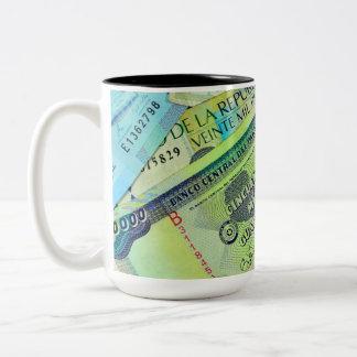 Latin American Currencies Two-Tone Coffee Mug