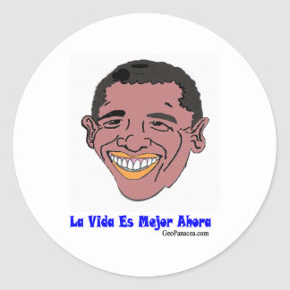 Latin American Life's Better Now Classic Round Sticker