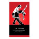 Latin and Ballroom Dance Instructor Business Card