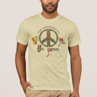 Latin and Celtic Peace Sign T-Shirt
