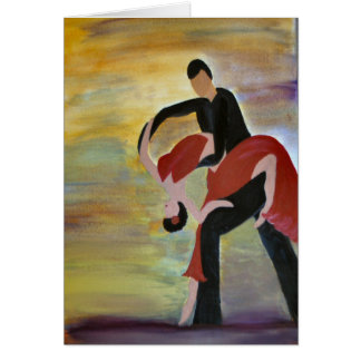 Latin Ballroom Dancers Card