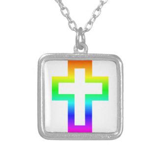 Latin (Christian) Cross Square Pendant Necklace