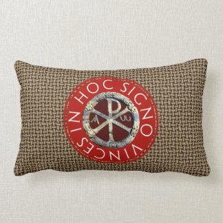 Latin Christogram Lumbar Pillow
