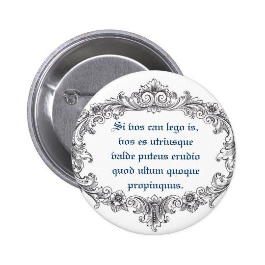 Latin Closeup! Pinback Button