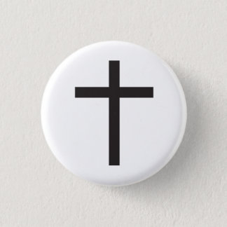 Latin Cross Religious Symbol Button