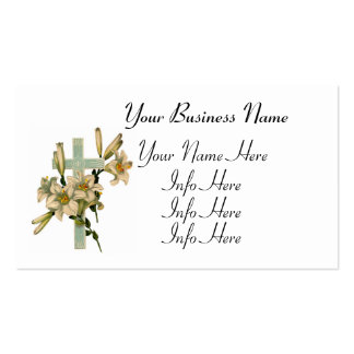 Latin Cross With Lilies Pack Of Standard Business Cards
