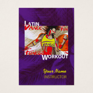 LATIN DANCE WORKOUT - Business-, Schedule Card