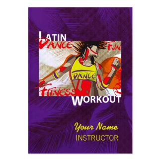 LATIN DANCE WORKOUT - Business-, Schedule Card Business Cards