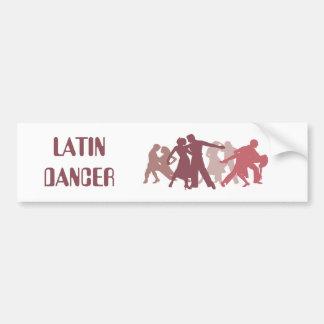 Latin Dancers Illustration Bumper Sticker