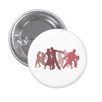 Latin Dancers Illustration Pinback Button
