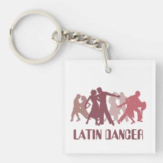 Latin Dancers Illustration Keychain