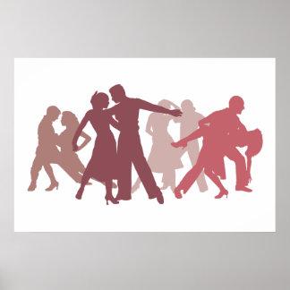Latin Dancers Illustration Posters