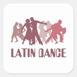 Latin Dancers Illustration Square Sticker