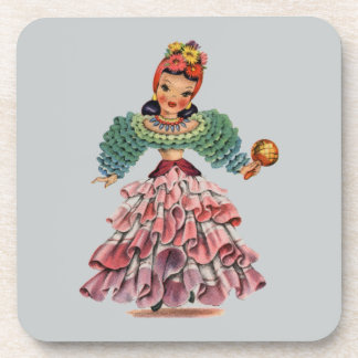 Latin Doll Drink Coaster