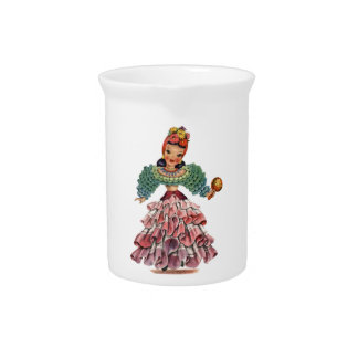 Latin Doll Drink Pitcher