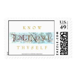 Latin for Know Thyself, let this beautiful daily m Postage