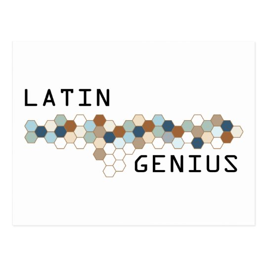 Latin Genius Postcard