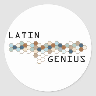 Latin Genius Round Sticker