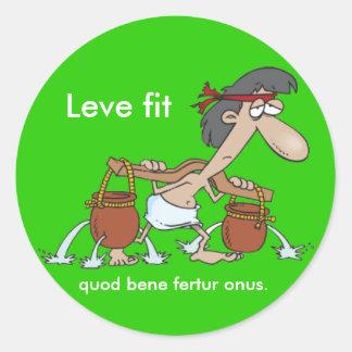Latin: Leve fit... Classic Round Sticker