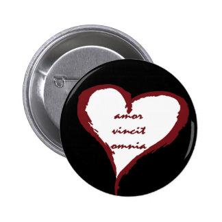 Latin Love Conquers All Heart Button