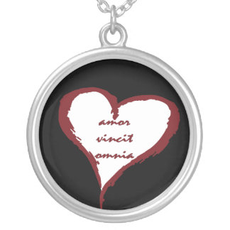 Latin Love Conquers All Heart Necklace