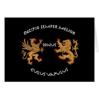 Latin mottos and heraldry card