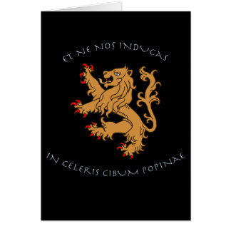 Latin mottos and heraldry greeting card