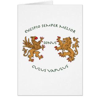 Latin mottos and heraldry cards