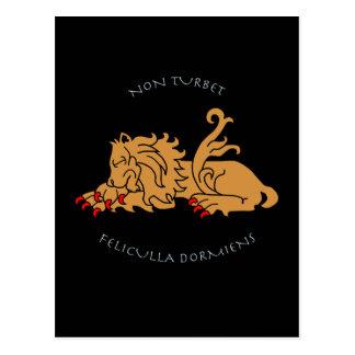 Latin mottos and heraldry postcard