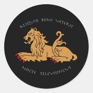 Latin mottos and heraldry sticker