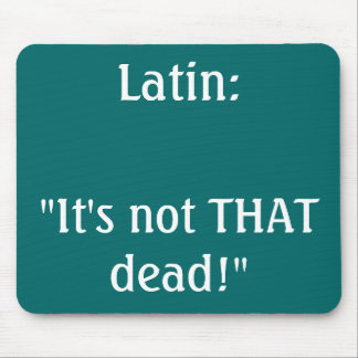 Latin mousemat mouse pad