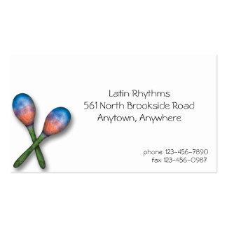 Latin Music Business Card