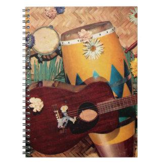 Latin music instruments notebook
