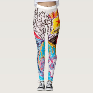 latin obey follower discipulus fitness abstract leggings