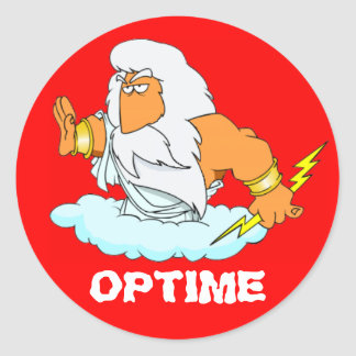 Latín: ¡Optime! Pegatina Redonda