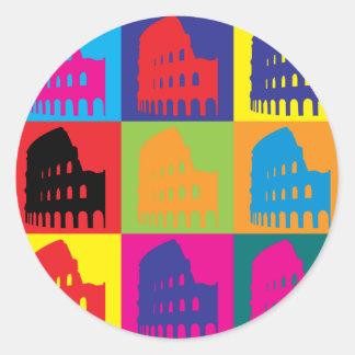 Latin Pop Art Round Stickers