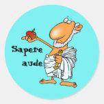 Latin: Sapere aude Classic Round Sticker