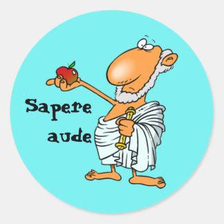 Latin Sapere aude Round Sticker