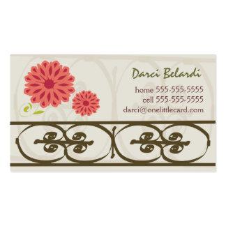 Latin Scroll Business Card