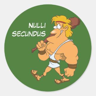 Latín: Secundus de Nulli Pegatina Redonda