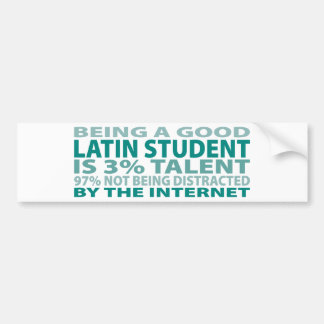 Latin Student 3% Talent Bumper Sticker