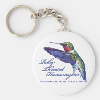 Latín Throated de rubíes del colibrí Llavero Redondo Tipo Pin