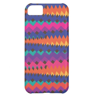 Latin Tribal Zigzag Colorful Striped Pattern Cover For iPhone 5C