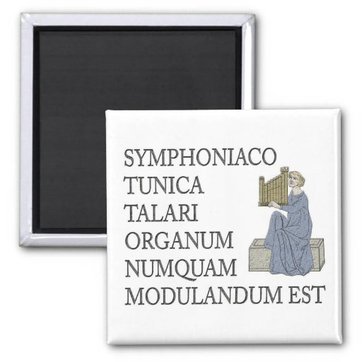 Latin warning to organists fridge magnets