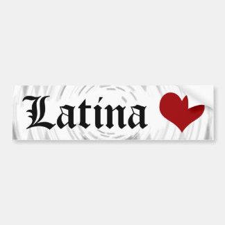 Latina Love Bumper Sticker