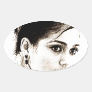 Latina Oval Sticker