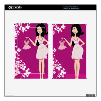 latina pregnant woman kindle fire decals