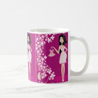 latina pregnant woman classic white coffee mug